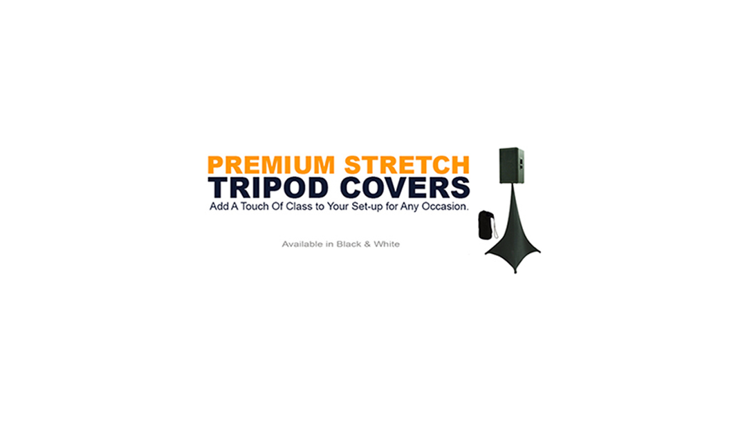 Amazin Gear Professional DJ Products - SKRIMS Stretch Speaker Stand DJ Tripod Scrim Covers - DJ Scrims Available in Black & White