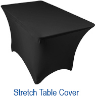 Amazin Gear Professional DJ Products - SKRIMS Stretch Spandex Table Scrim Covers for DJs, Event Planners and Trade Shows
