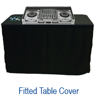 Amazin Gear Professional DJ Products - SKRIMS Fitted Tablecloth Table Covers perfect for professional djs, wedding planners and trade shows